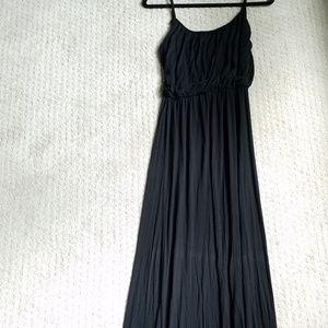 Black Jersey Maxi Dress, Size M